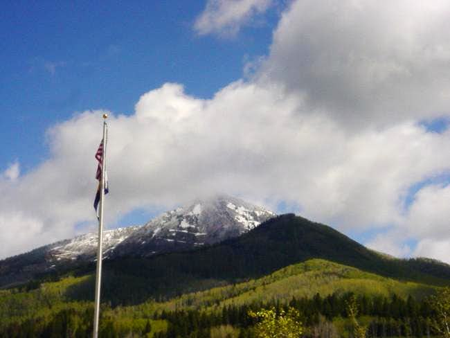 Hahns Peak from the Steamboat...