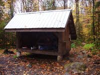 This is the Lost Pond Shelter.