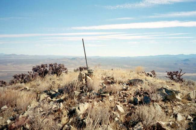 The summit of Hachita Peak.