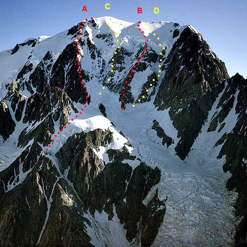 the West side of Mont Blanc...