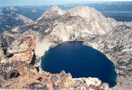Sawtooth Lake from Regan Summit