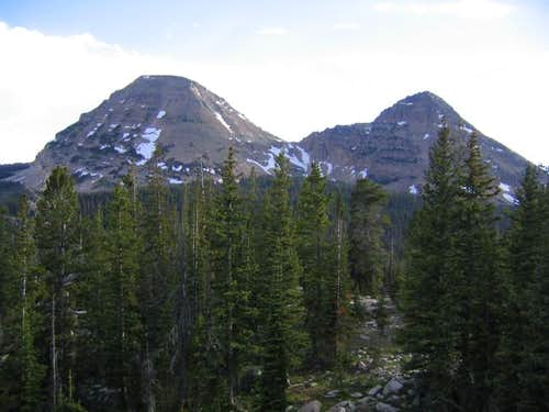 Bald Mountain (left) and...