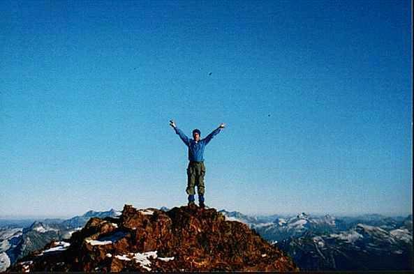 Norman on summit looking...