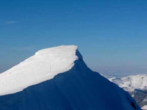 A peak just before Troglav...