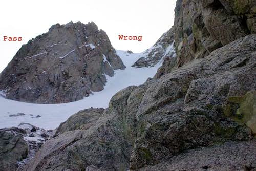 Wrong Couloir up Shepherd's...