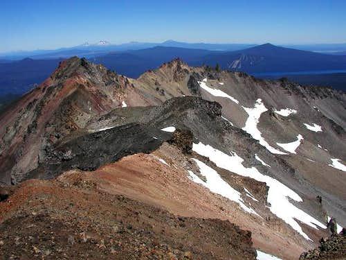 Maiden Peak is the dark cone...