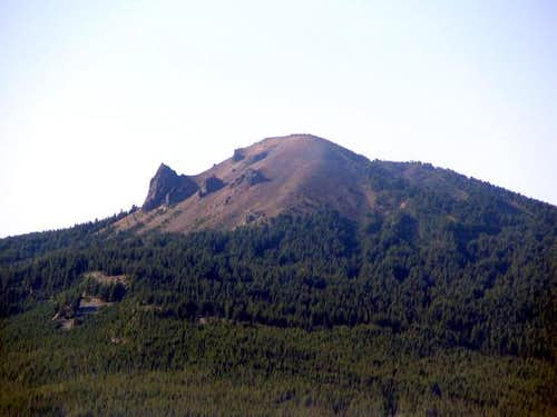 Maiden Peak's north face as...