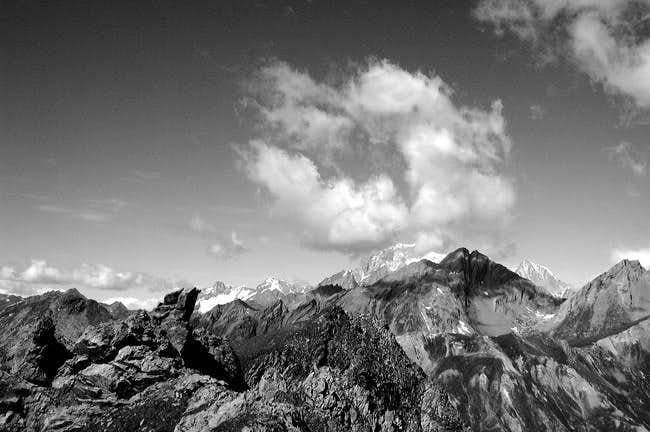 Monte Bianco Group seen from...