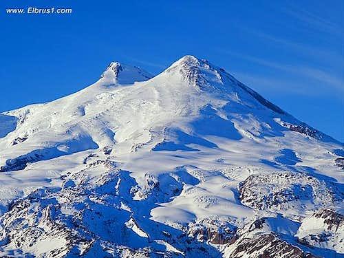 Mt. Elbrus common view in...