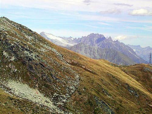 The saddle of Colle Citrin from Colle di Zyoule