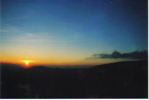 Sunset from the Roan Highlands