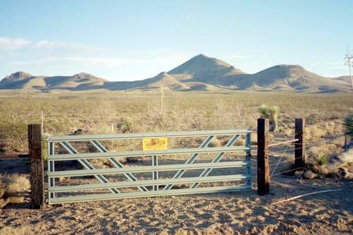 The locked gate along Animas...