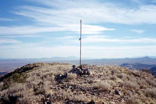 The summit of Pyramid Peak.