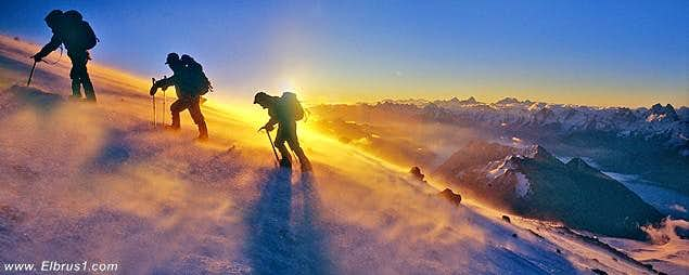 Climbing Elbrus with all...