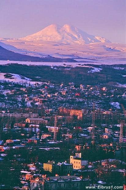 Mt. Elbrus from the North...