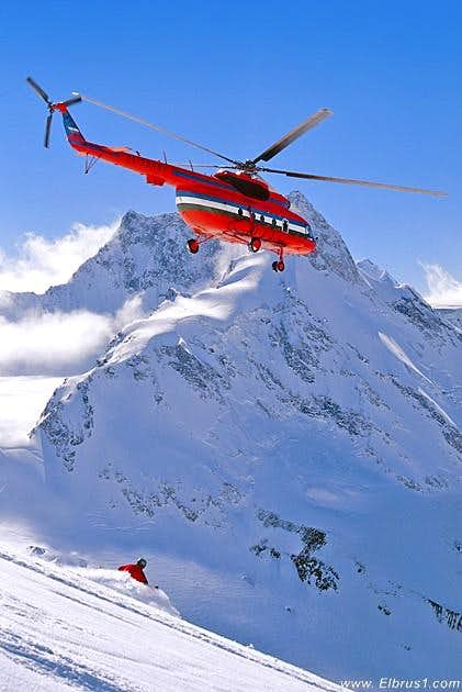 Heli-skiing in Adil-Su valley...