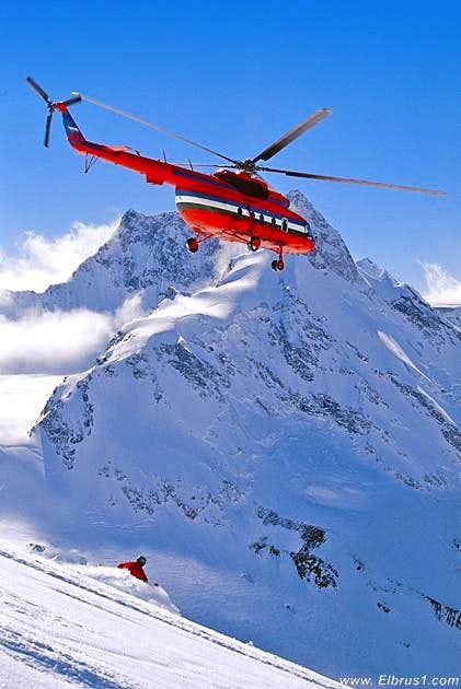 Heli-skiing in Adil-Su valley...