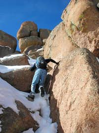 Scrambling toward the summit...