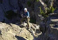 me about to rap over the edge