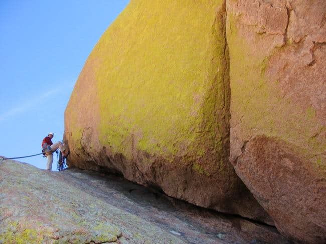 Belaying from top of pitch 5...
