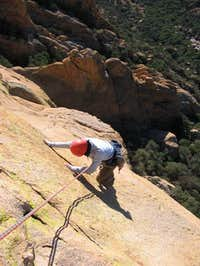 Shirley nearing the top of...