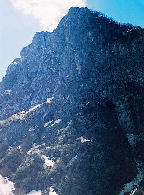 Impressive 700 m high wall of...