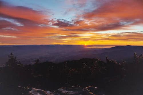 From atop Mt San Jacinto on...