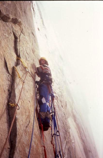 Johnathan Gordon aid climbing...