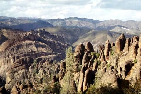 A view overlooking Pinnacles...