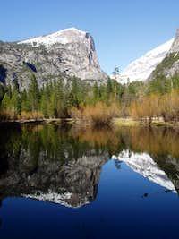 Mt. Watkins reflected in Mirror Lake