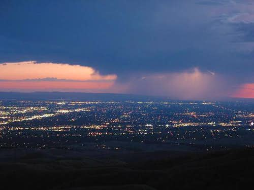 Lightning storm above Boise-...