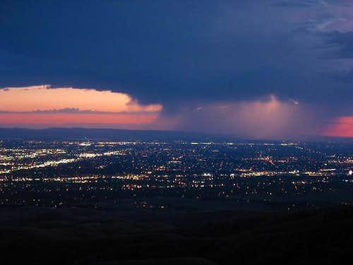 Lightning storm above Boise-...