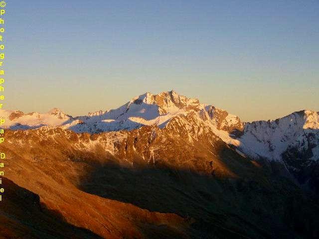 hochalmspitze in sunset from...