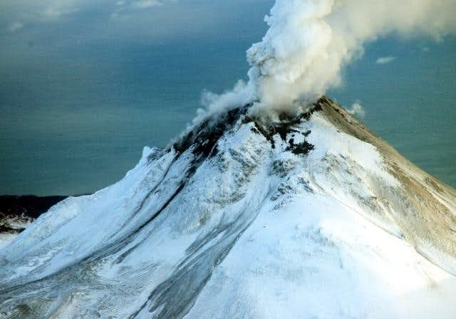 Augustine volcano viewed from...