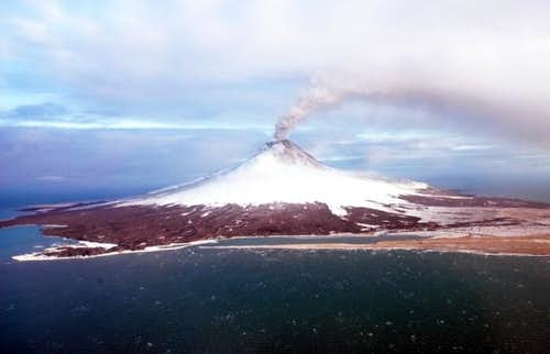 Augustine volcano. View from...