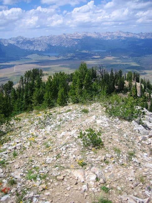 A view from the summit toward...
