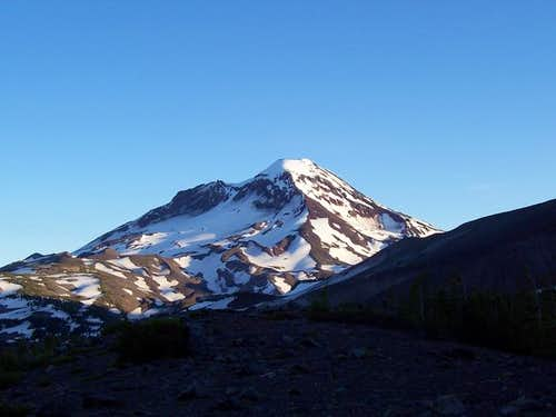 south sister from camp on...