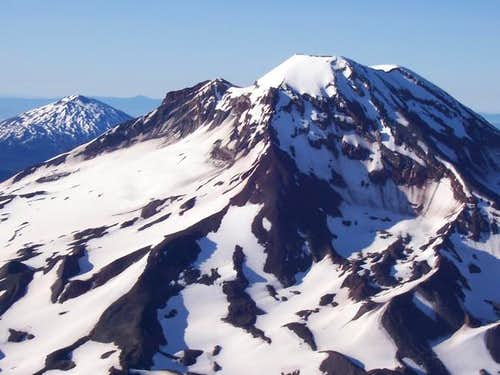The south sister from summit...