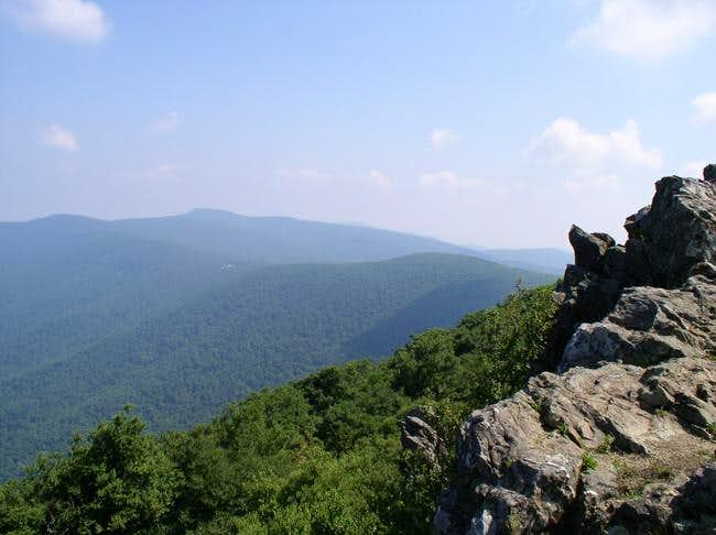 August 1 2005 Top of Hawksbill