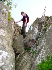 climbing Bearfence Mt august...