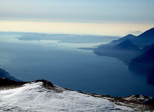 Lake Garda and the Padana plain