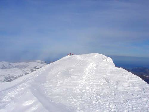 The summit of Ory in winter....