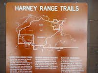 Maps at the trailheads were...