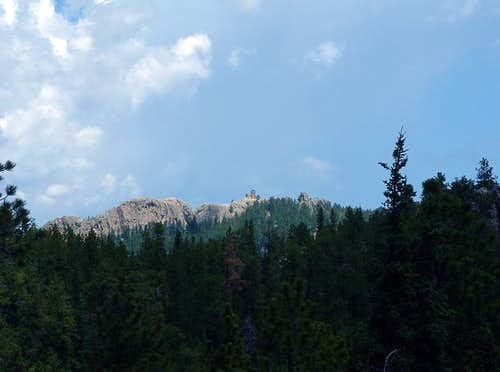 Harney Peak from along Trail...