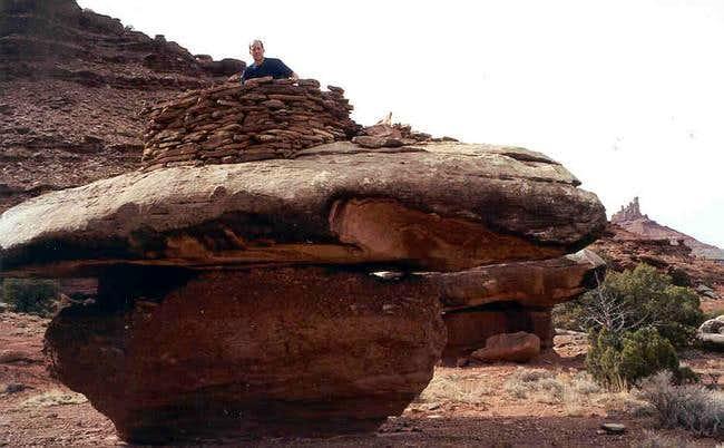 Nearby Anasazi Granary- rcoks...