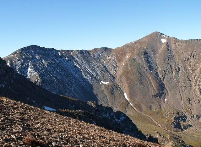 Parry Peak (right) and...