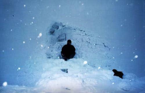 The summit hut.  No doubt...