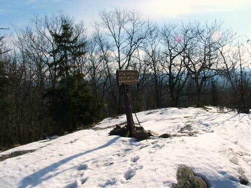 The summit sign on Little Mt....