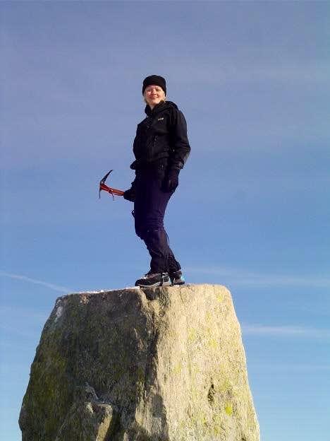Summit of Tryfan. 7th March...