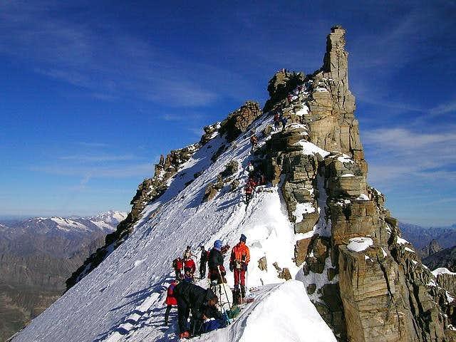Gran Paradiso summit pyramid